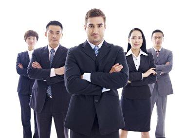 portrait of multinational business team