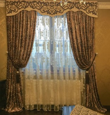 curtains and tulle in the interior