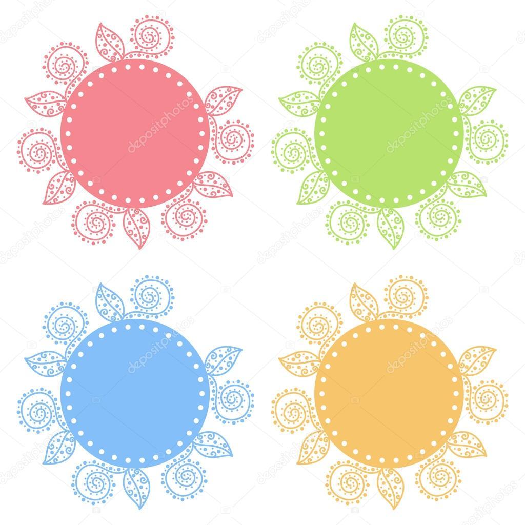 Marcos decorativos coloreados — Archivo Imágenes Vectoriales ...