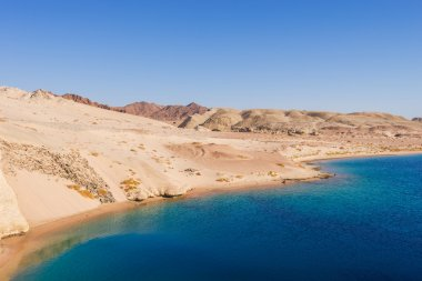 The confluence of the Suez Canal and Aqaba. Ras Mohamed National Park, Sharm El Sheikh, Egypt.