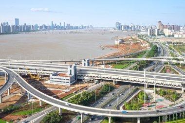 shanghai on traffic rush hour