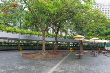 Modern business center in Hong Kong