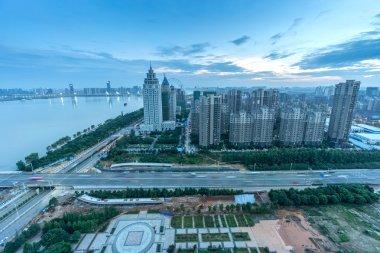 Bird view at Wuhan China