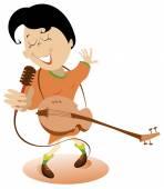 Frau mit Gitarrengesang