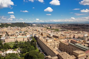 View city from the top of Saint Peter's Basilica