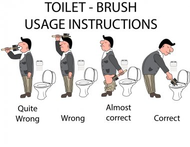 Toilet instruction