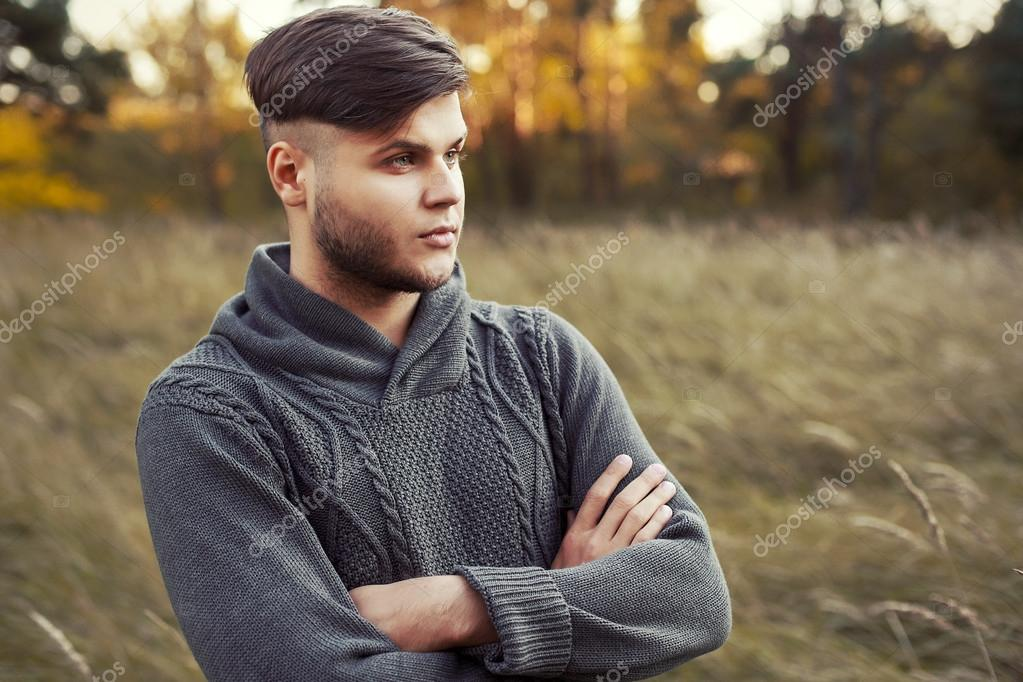 young handsome hipster man