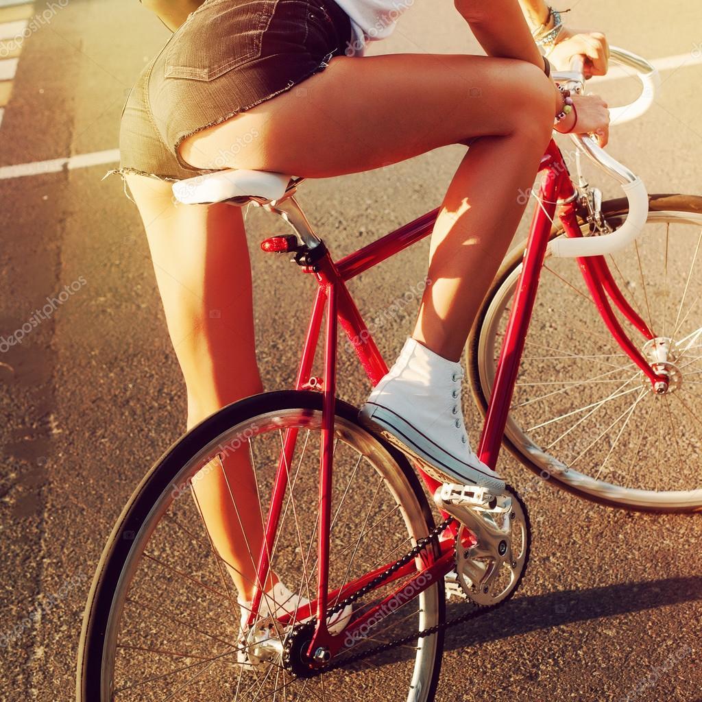 Bike sexy girl on 17 Biker