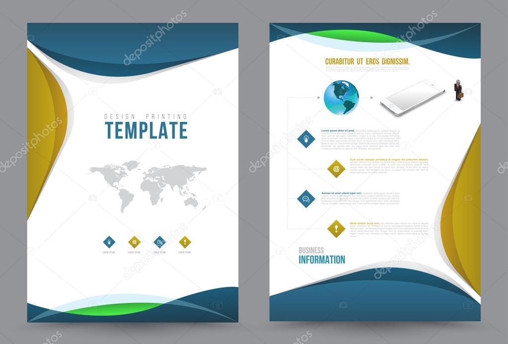 Decken Sie Jahresbericht Leaflet Prospekt Flyer A4 Größe ...