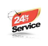 24 hodin 7 dní služby nápis