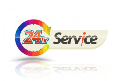 24 hours 7 day service banner