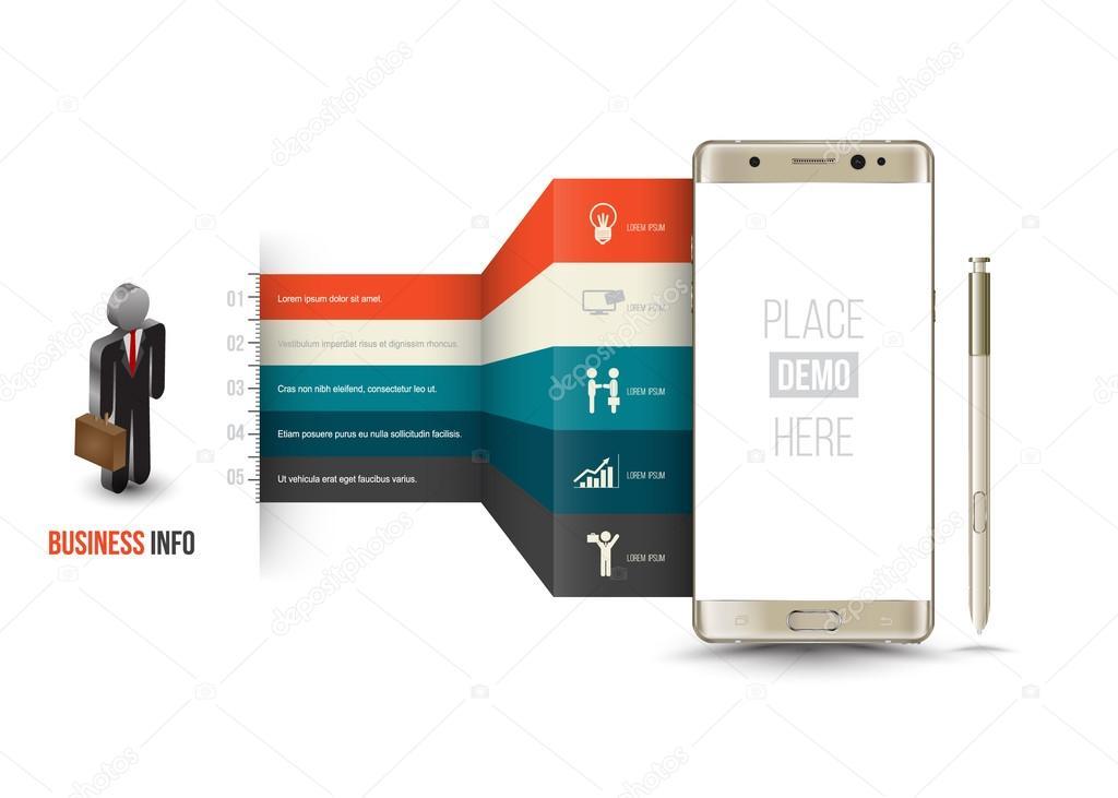 Business Designvorlage für Mobile Anwendung oder ein neues ...