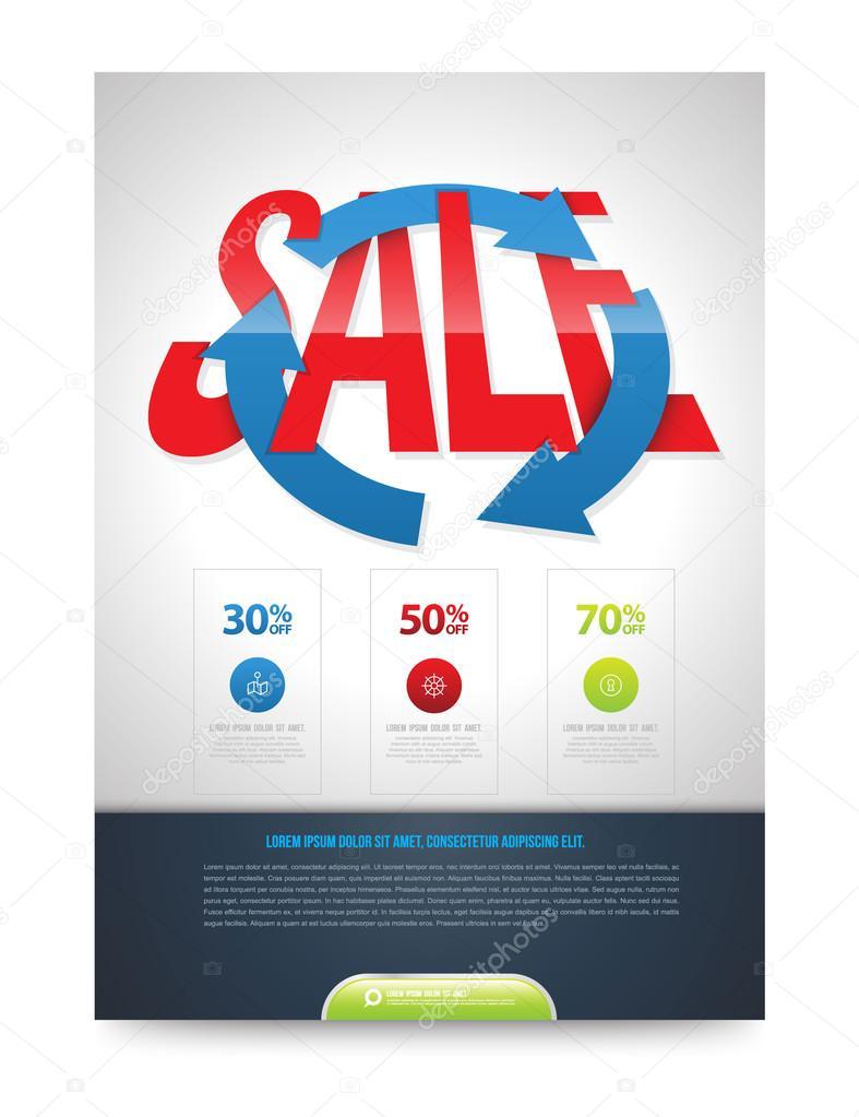 Vector de plantilla de diseño de cartel de venta. Ilustración del ...
