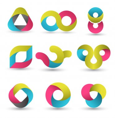 Modern shape set.
