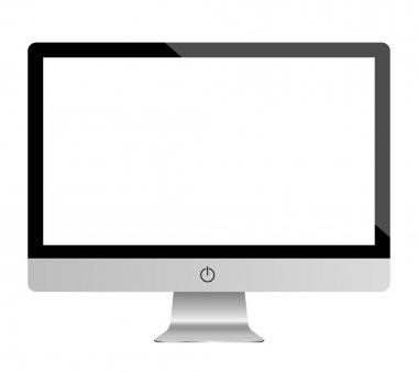 Monitor computer mockup realistic