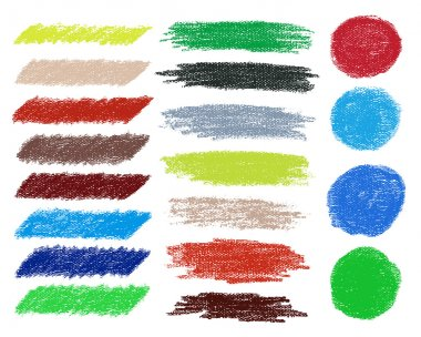 Rainbow vector brush strokes collection.