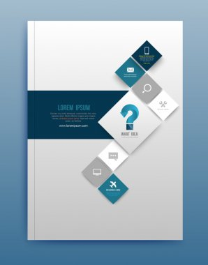 Vector brochure design template, flyer layout, magazine cover & poster template. Vector illustration. Can use for printing and web. clip art vector