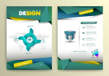 Vector design page template modern style. Vector illustration. Can use for business data report, presentation, web page, brochure, leaflet, flyer, poster and advertising. stock vector