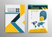 Šablony návrhů obal brožury. Moderní pozadí abstraktní Flyer