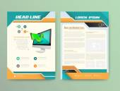 Broschüre-Abdeckung-Design-Vorlagen. Moderne abstrakte Flyer-Hintergründe