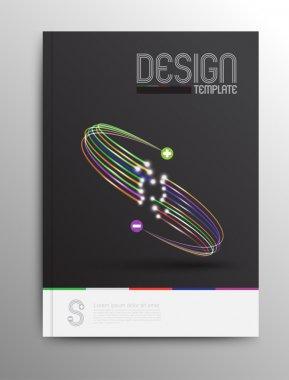 Designe template for leaflet, brochure, cover, magazine.