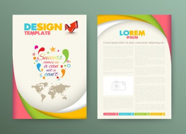 Designe template for leaflet, brochure, cover, magazine.