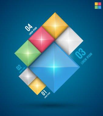 Modern squares design banner.