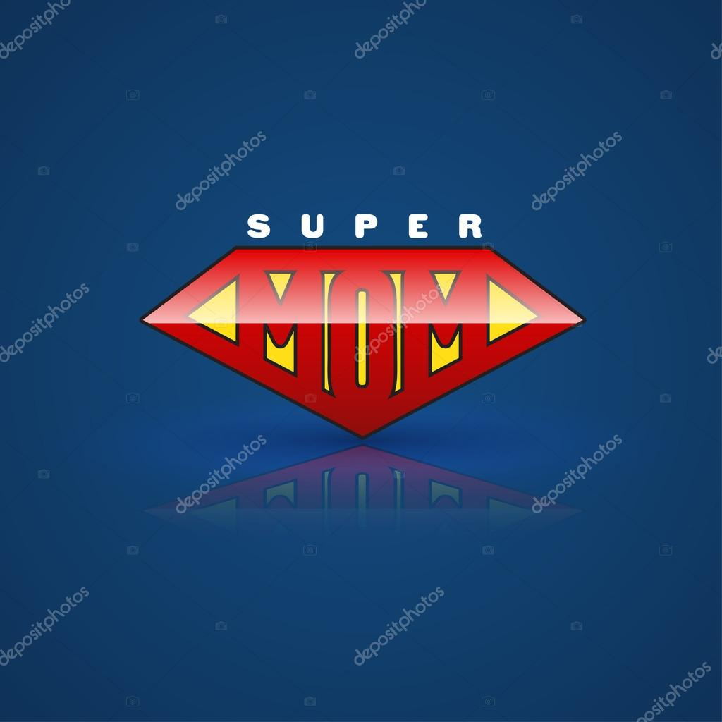 Red super mom shield.