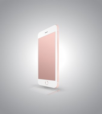 New realistic mobile phone smartphone iphon style mockup
