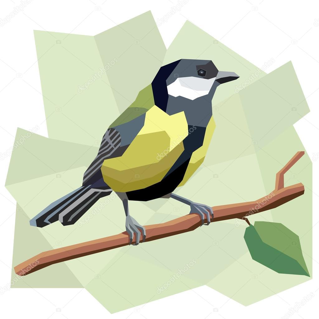シジュウカラ鳥のベクトル簡単なイラスト ストックベクター Vertyr