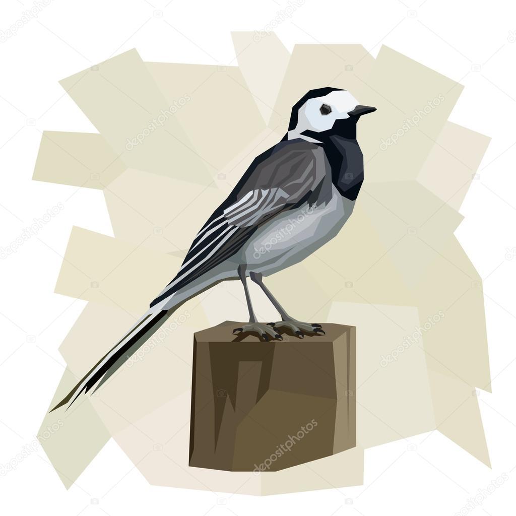 セキレイ鳥のベクトル簡単なイラスト ストックベクター Vertyr