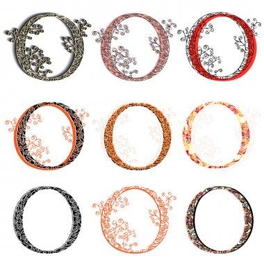 Various combination fishnet letter O.