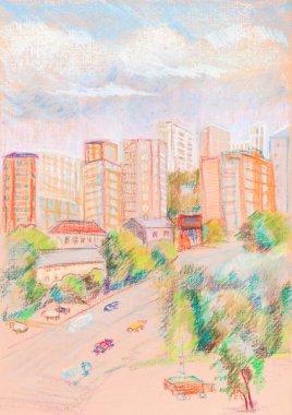 "Картина, постер, плакат, фотообои ""город в солнечный день "", артикул 87366170"