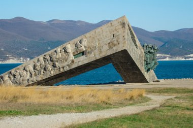Memorial on the spit in Novorossiysk