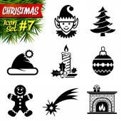 Fényképek fekete-fehér karácsony-ikonok