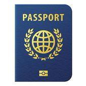 Modrý pas izolovaných na bílém pozadí