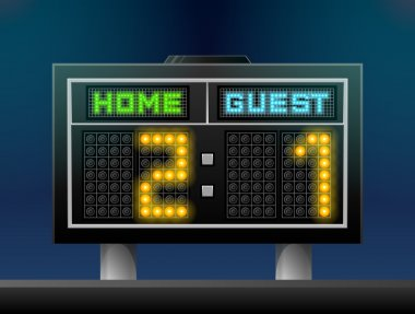 Electronic soccer scoreboard for stadium
