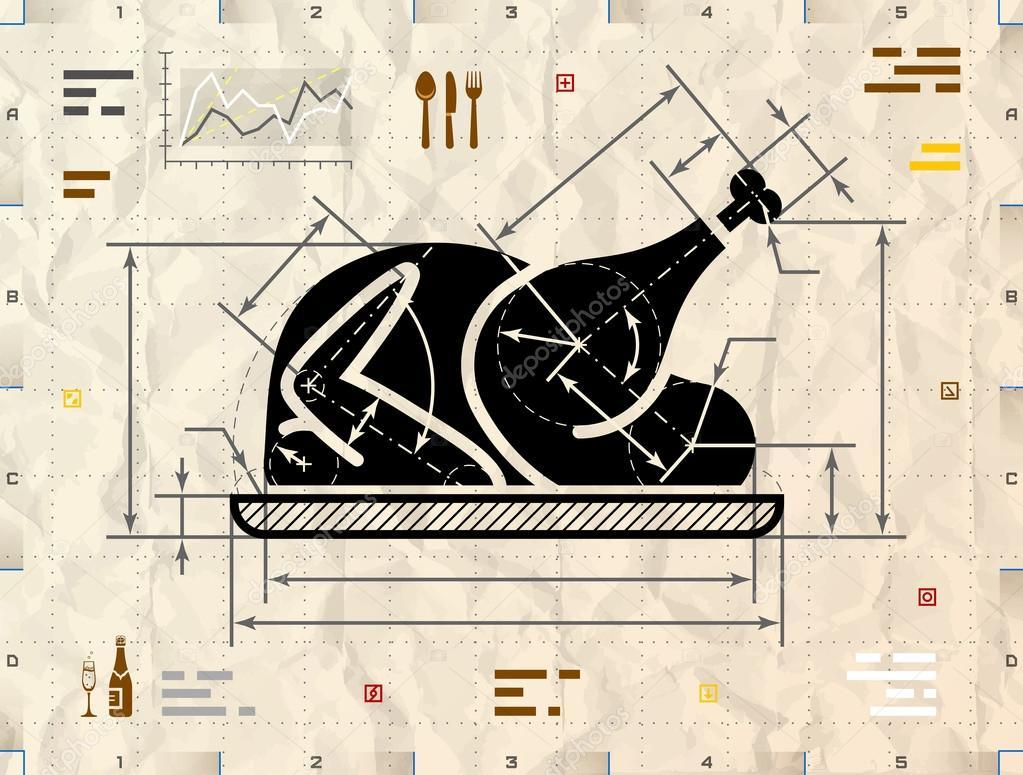 weihnachten ganze t rkei symbol als technische zeichnung. Black Bedroom Furniture Sets. Home Design Ideas