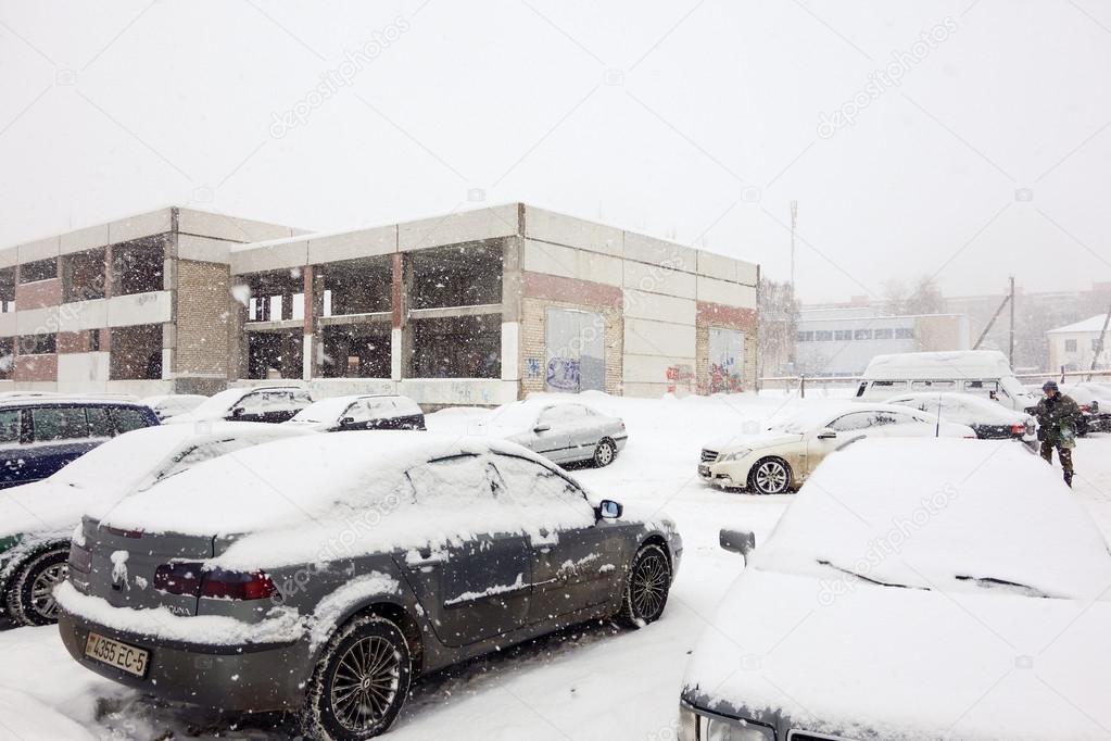 The cyclone Daniella in Borisov-city