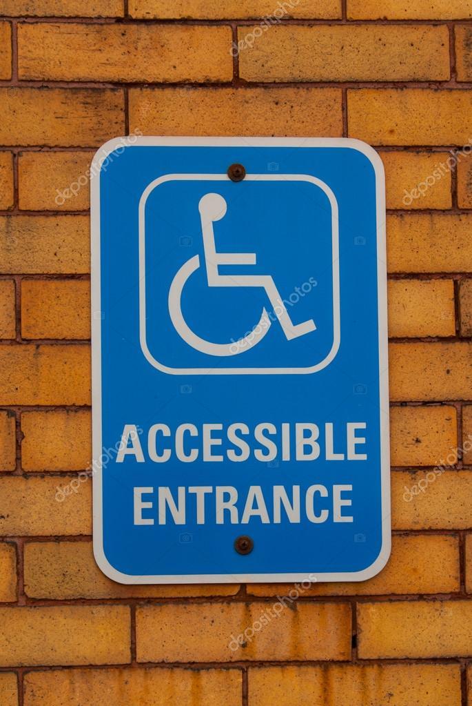 handicap entrance sign stock photo titoslack 64388345