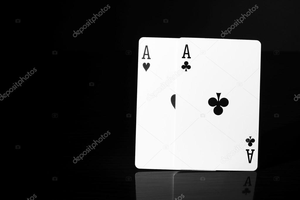 Cartes à Jouer Noir Et Blanc Comme Arrière Plan Peinture Numérique Illustration Texture Arrière Des Cartes à Jouer