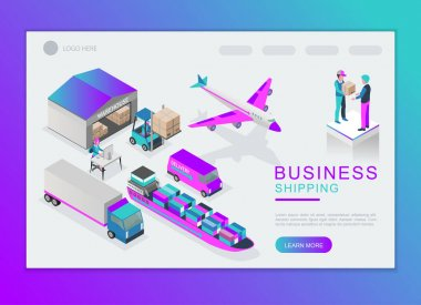 Shipping service vector design. For landing page and background template. icon