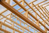 Fotografie Elemente, die das Dach der Holzbalken bilden japanische Pagode