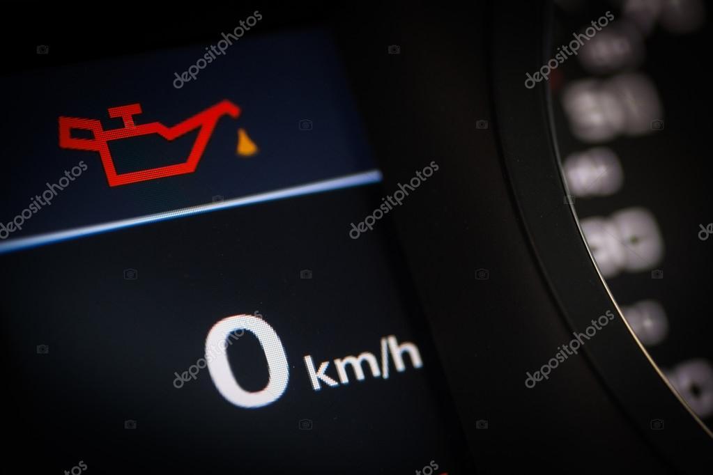 Oil Symbol In A Car Stock Photo Bizoon 108407360