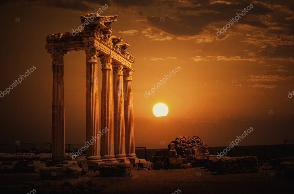 Temple of Apollo on Sunset