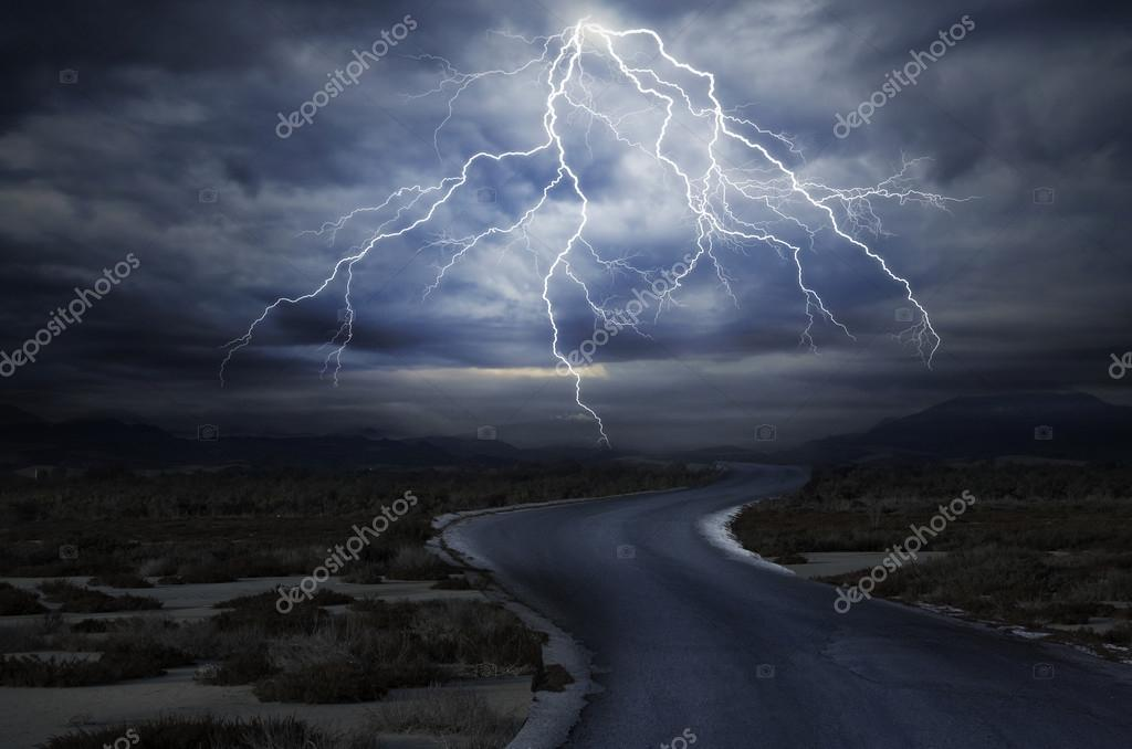 Thunderstorm over the Road