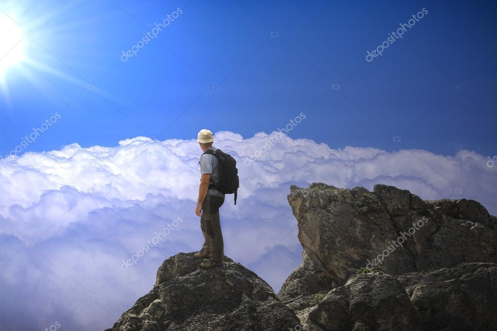 The man on the summit