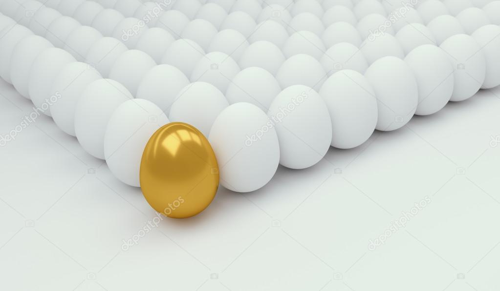 Business Concept with golden egg