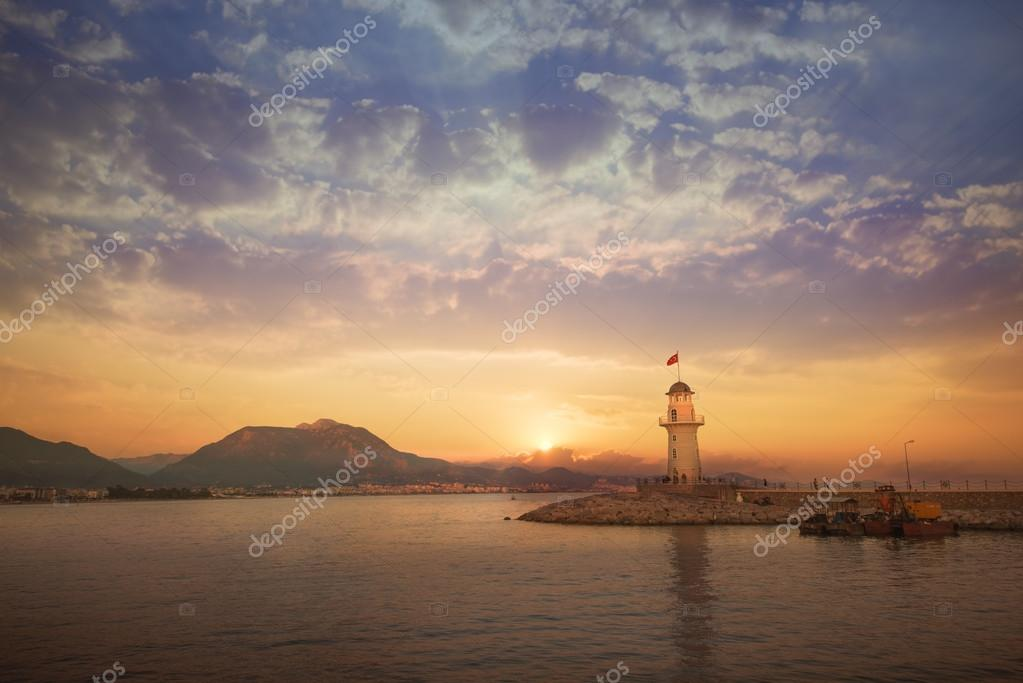 The lighthouse at Antalya,Turkey