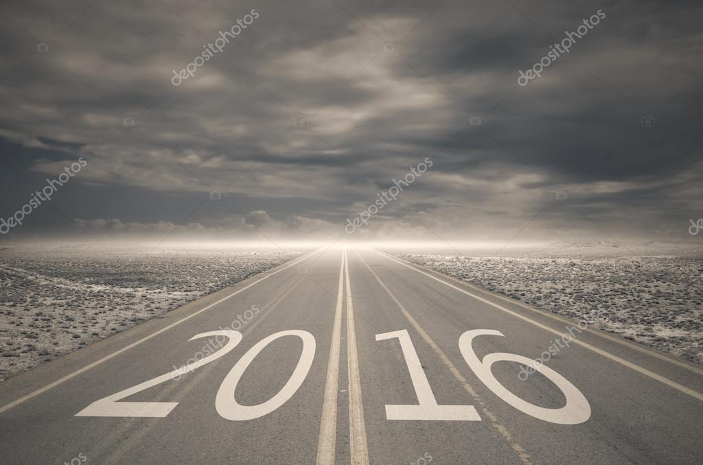Forward to 2016 new year concept ,